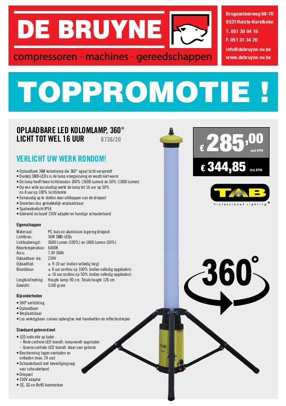 Oplaadbare Led Kolomlamp